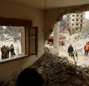 Más de 30 muertos en bombardeo de coalición internacional contra un colegio en Siria