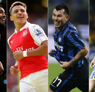 La agenda de los futbolistas chilenos en las principales ligas del mundo