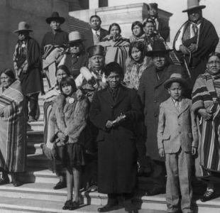 Miembros de la nación osage en Washington durante una visita al Capitolio en 1925 para exponer las condiciones de las naciones indígenas en Oklahoma.