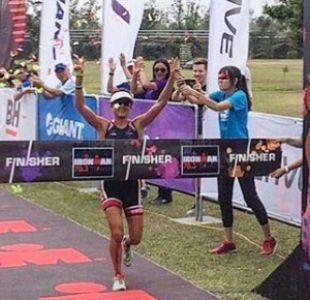 Triatleta Bárbara Riveros brilla al ganar el Ironman de Taiwán
