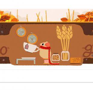 El Doodle con que Google recibió al otoño