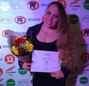 Natalia Duco recibe diploma olímpico por octavo lugar en Londres 2012