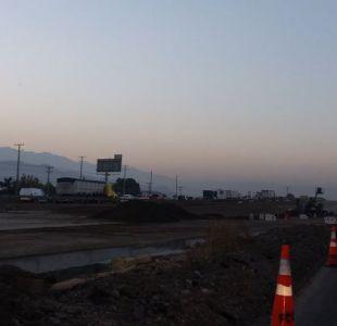 Choque múltiple en Ruta 5 Norte deja un muerto y gran congestión