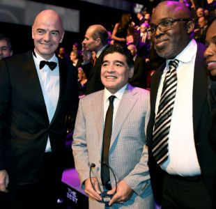 """Maradona amenaza: """"Si Tinelli sigue en su cargo, me voy de FIFA"""""""