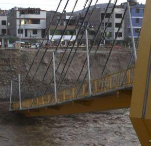 Cómo un puente del siglo XVII resistió más que uno moderno a las fuertes inundaciones en Lima