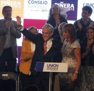 UDI proclama a Sebastián Piñera como candidato presidencial
