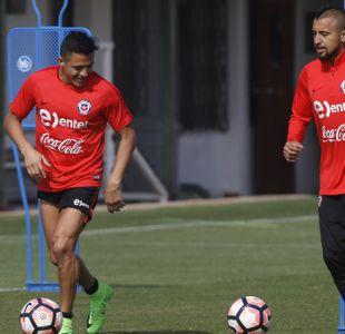 [FOTOS] Alexis Sánchez y Arturo Vidal lideran práctica sabatina de la selección chilena