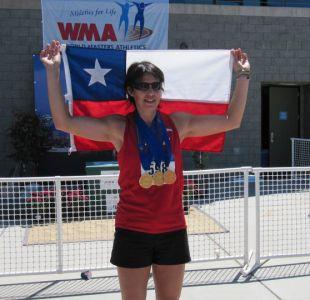Marcela Barrientos gana tres medallas de oro en Mundial Senior de Atletismo