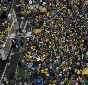 Protestas anticorrupción en Brasil, menos masivas y con consignas más dispersas
