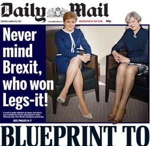 La portada del Daily Mail sobre las piernas de Theresa May y Nicola Sturgeon que genera indignación