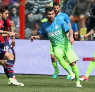 [VIDEO] Gary Medel comete penal en derrota de Inter de Milán ante colista en Italia
