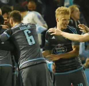 Celta de chilenos logra luchado triunfo ante Genk en cuartos de final de la Europa League