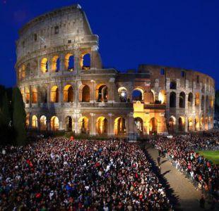 Vía Crucis en Roma entre  fuertes medidas de seguridad