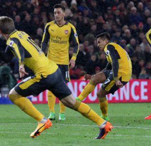 [Minuto a Minuto] Con gol de Alexis Arsenal está venciendo a Middlesbrough en la Premier