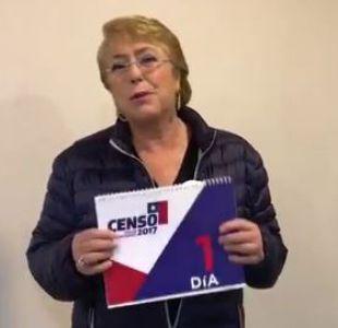 [VIDEO] Bachelet reitera invitación a participar en el Censo