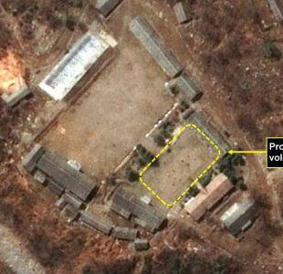 ¿Estaban jugando voleibol en el sitio de las pruebas nucleares en Corea del Norte?