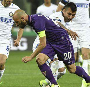 Inter de Gary Medel pierde ante Fiorentina en un festival de goles en Italia