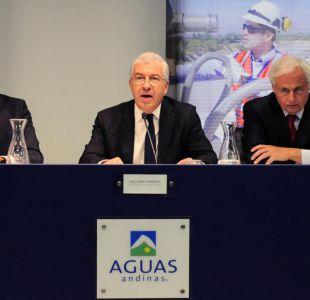 """Aguas Andinas niega aportes y dice que """"no tiene ninguna influencia sobre el sistema político"""""""