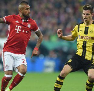 Arturo Vidal se despide de la Copa de Alemania tras caída de Bayern ante Dortmund