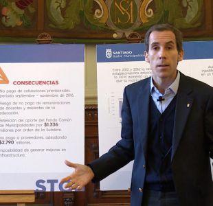 [VIDEO] Denuncian millonario déficit de fondos en municipio de Santiago