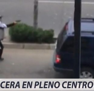 [VIDEO] Balacera en pleno centro de Viña