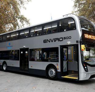 Con un 6,7 evalúan los usuarios al bus de dos pisos del Transantiago