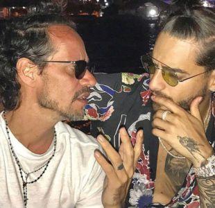 Maluma es la nueva víctima del besador Marc Anthony