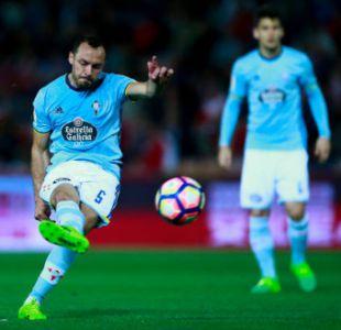 Marcelo Díaz que ofició de capitán se lesionó en la derrota del Celta