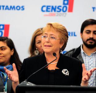 Bachelet asegura que el Censo cubrió el 98,95% de las viviendas