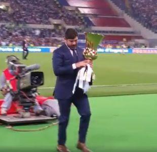 [VIDEO] Marcelo Salas ovacionado en final de Copa Italia en el Estadio Olímpico de Roma