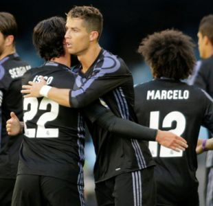 Real Madrid queda a un paso de ganar la Liga española tras golear al Celta