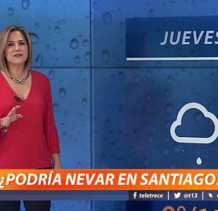 Sistema frontal: ¿Podría nevar en Santiago?