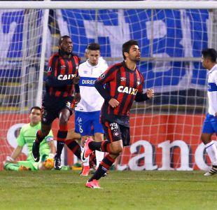 [VIDEO] Los goles de la derrota de Universidad Católica ante Atlético Paranaense en la Libertadores