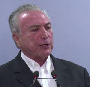 [VIDEO] Brasil: Michel Temer se defiende y acusa montaje