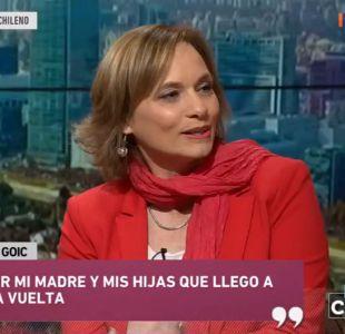 """Carolina Goic: """"Juro por mi madre y mis hijas que llegaré a primera vuelta"""""""