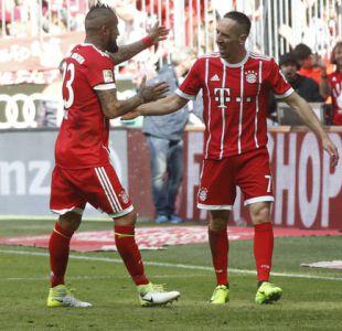 El saludo de Franck Ribery a Arturo Vidal en el día de su cumpleaños