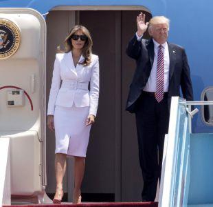 Un nuevo desencuentro: Melania rechaza dar la mano a Trump en su llegada a Israel
