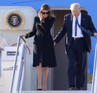 Melania lo hizo otra vez: esquivó la mano de Trump en su llegada a Roma