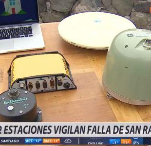 Onemi instalará dos monitores para examinar la Falla de San Ramón