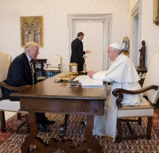 El Papa Francisco recibe al presidente Donald Trump en el Vaticano