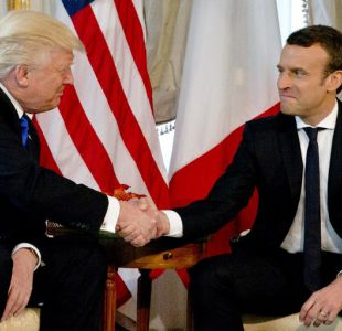 Trump se reúne por primera vez con Macron en Bruselas