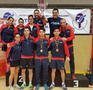 Histórico: Team Chile se proclama campeón absoluto del iberoamericano de tenis de mesa