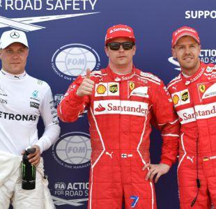 Raikkonen logra la pole sobre su Ferrari por primera vez desde el año 2008