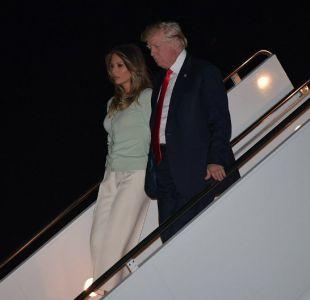Trump volvió de su gira a una Casa Blanca en crisis