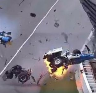 [VIDEO] El impresionante accidente que marcó las 500 Millas de Indianápolis 2017