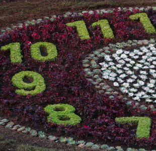 [FOTOS] Reloj de flores de Viña del Mar retoma su forma tras ser destruido por un árbol