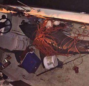 El sorpresivo -y escalofriante- salto de un tiburón que cayó encima de un pescador en su barco
