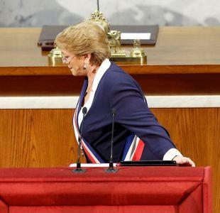 Los 15 momentos que marcaron la última Cuenta Pública de Bachelet