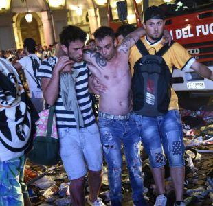 [VIDEO] Estampida de hinchas de Juventus provoca cientos de heridos en Turín