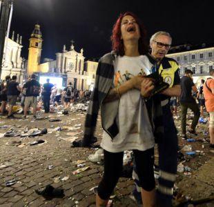 Una estampida en el centro de Turín deja más de mil heridos